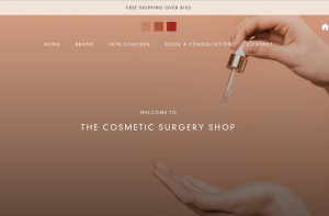 Screenshot of the Cosmetic Surgery Shop
