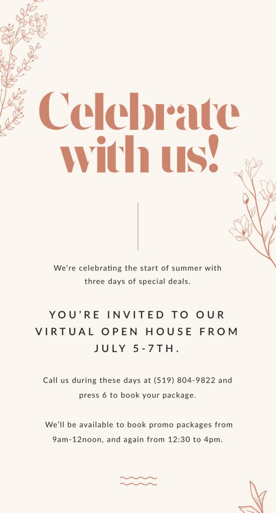 Celebrate with us! Our Open House is happening now.