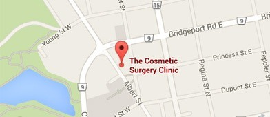 Google map of The Cosmetic Surgery Clinic in Waterloo, ON